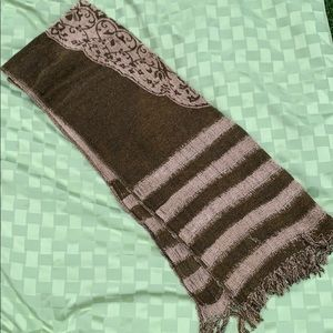 Soft and Cozy Brown Reversible Pashmina Scarf